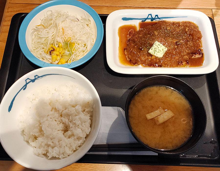 [松屋]厚切りトンテキ定食[シャリアピンソース](730円)