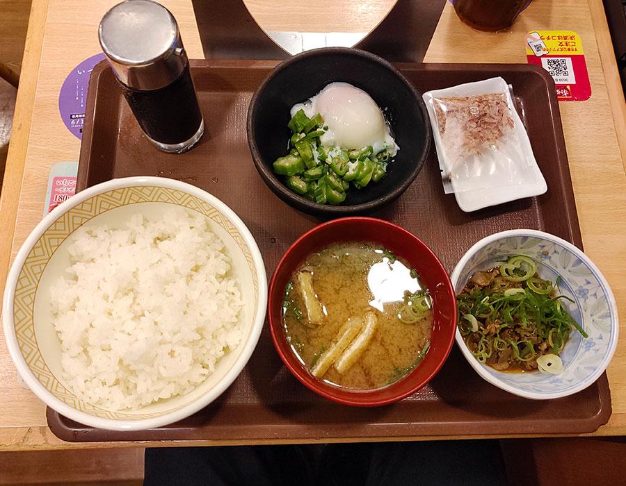 [すき家]まぜのっけごはん朝食[並](350円)