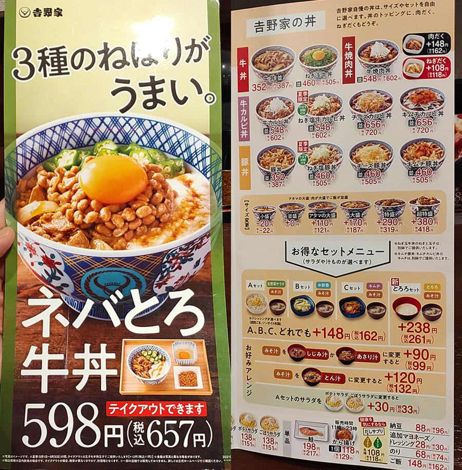 [吉野家]アジフライ定食(602円)