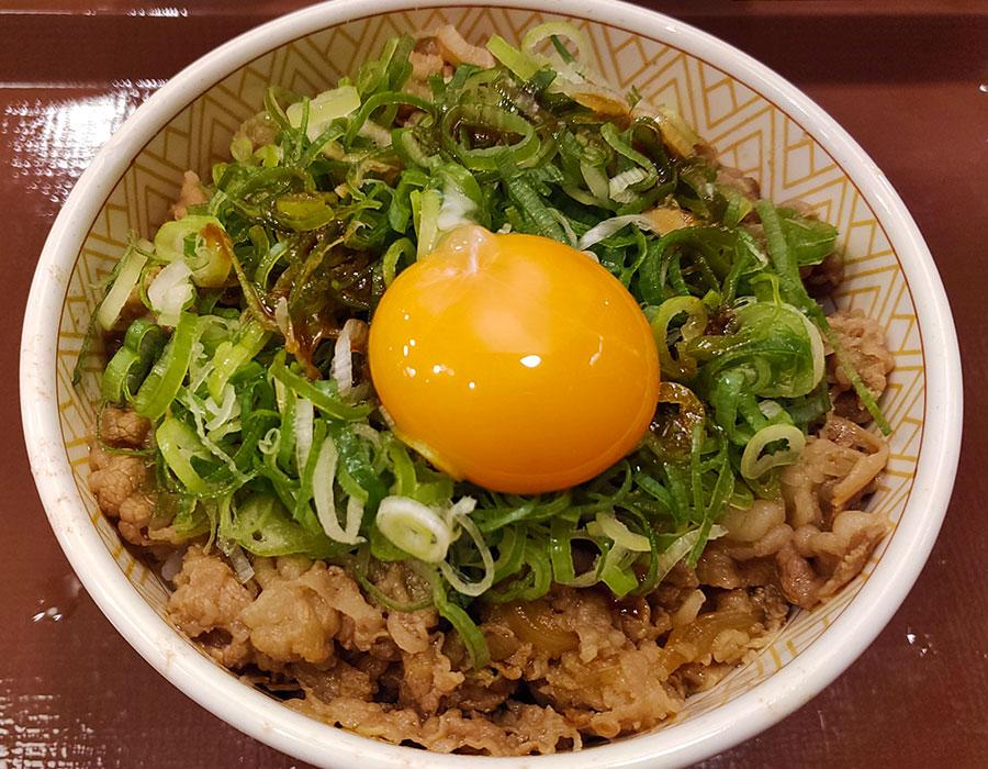 [すき家]ねぎ玉牛丼(480円)